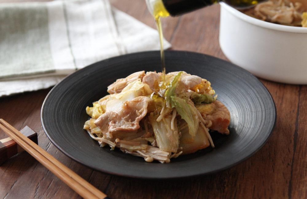 フライパンひとつでできる 豚肉と白菜のうま煮