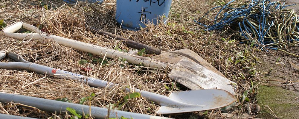 オリーヴ栽培の農作業具