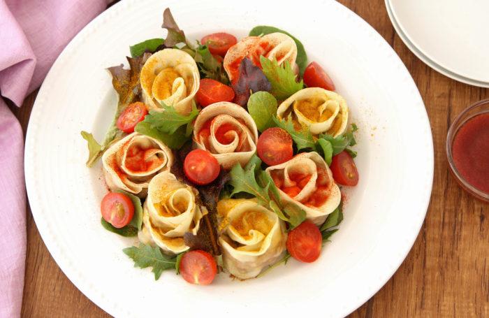 母の日に手料理を贈ろう! バラ餃子