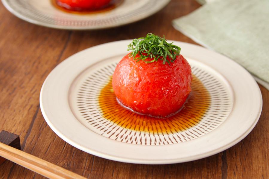 オリーブオイル香る さっぱりポン酢漬け冷やしトマト